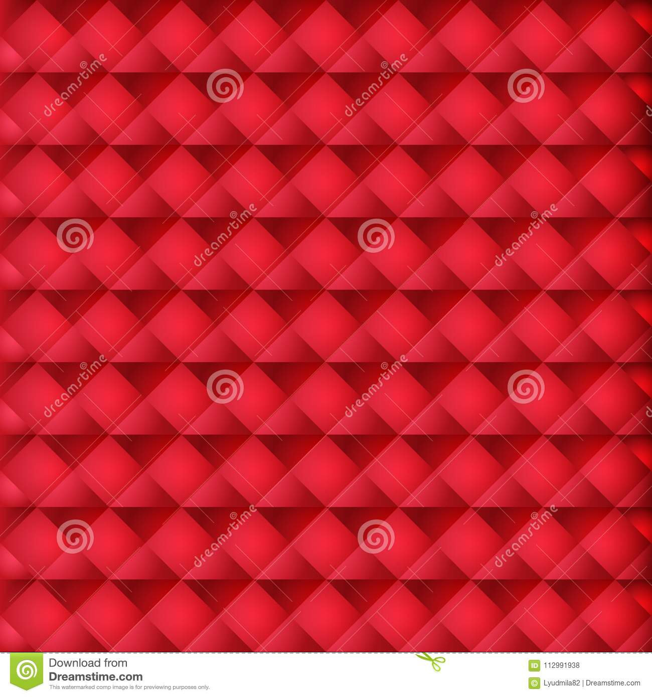 Red geometric background for website decoration, banner, leaflet, top cover, packing.