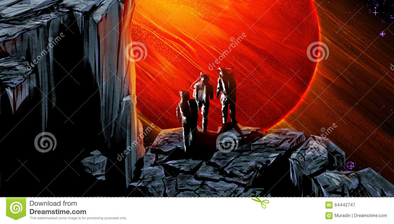 Red Giant Planet Stock Illustration - Image: 64442747