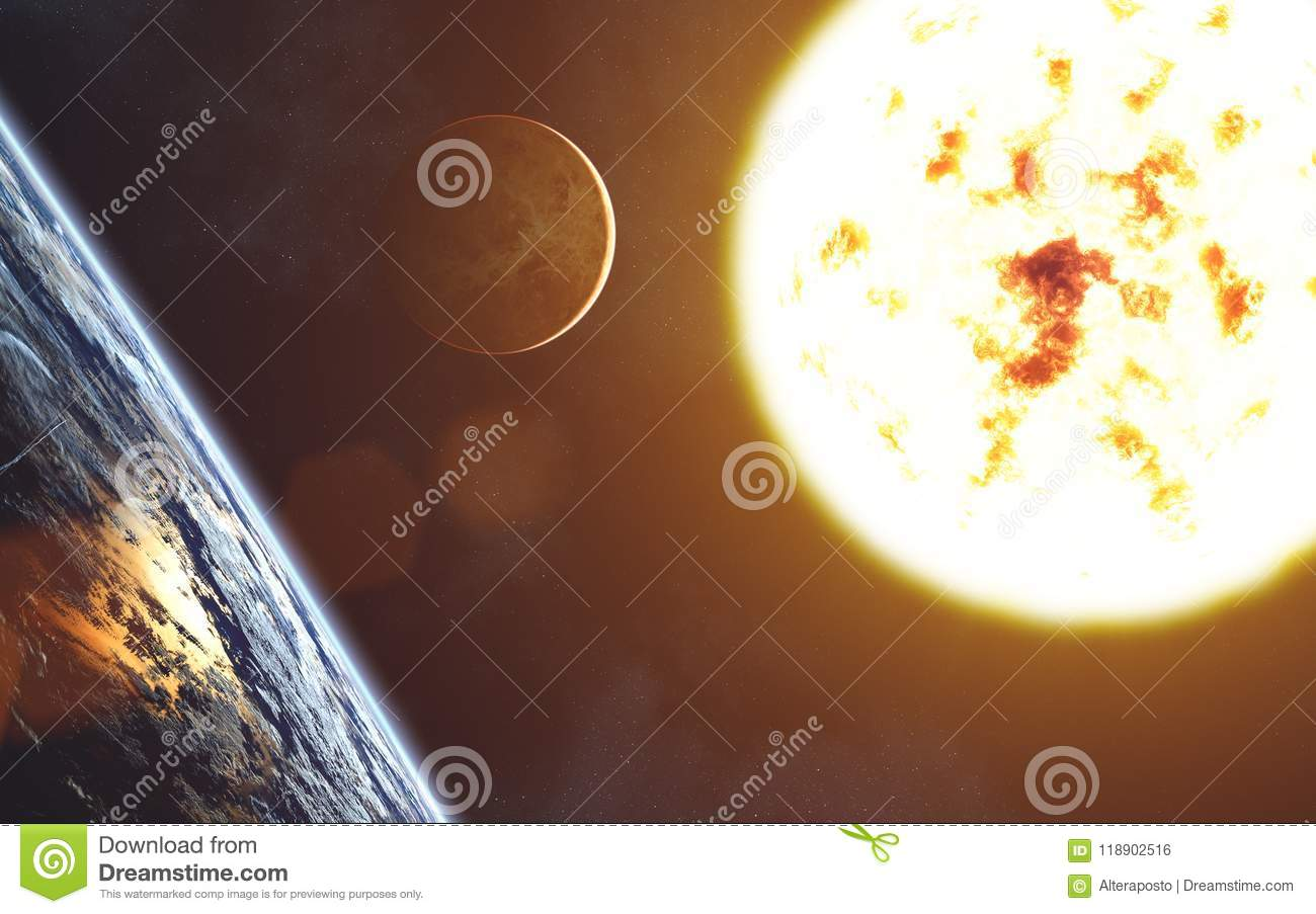 Red Giant Star Solar System Sun Earth Landscape Venus Stock Photo Image Of Atmosphere Earth 118902516