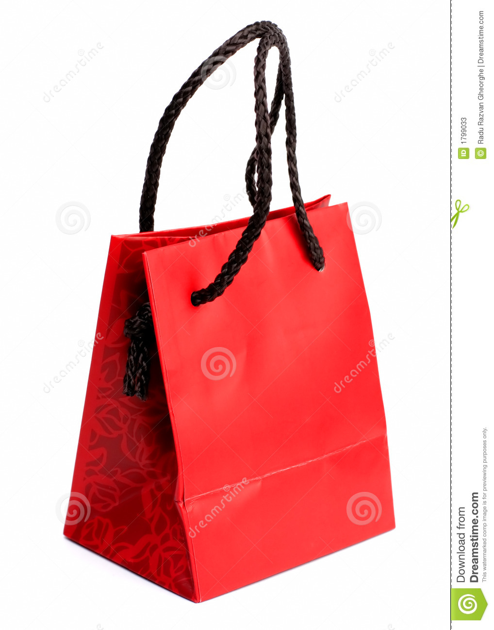 Red gift bag stock photos image