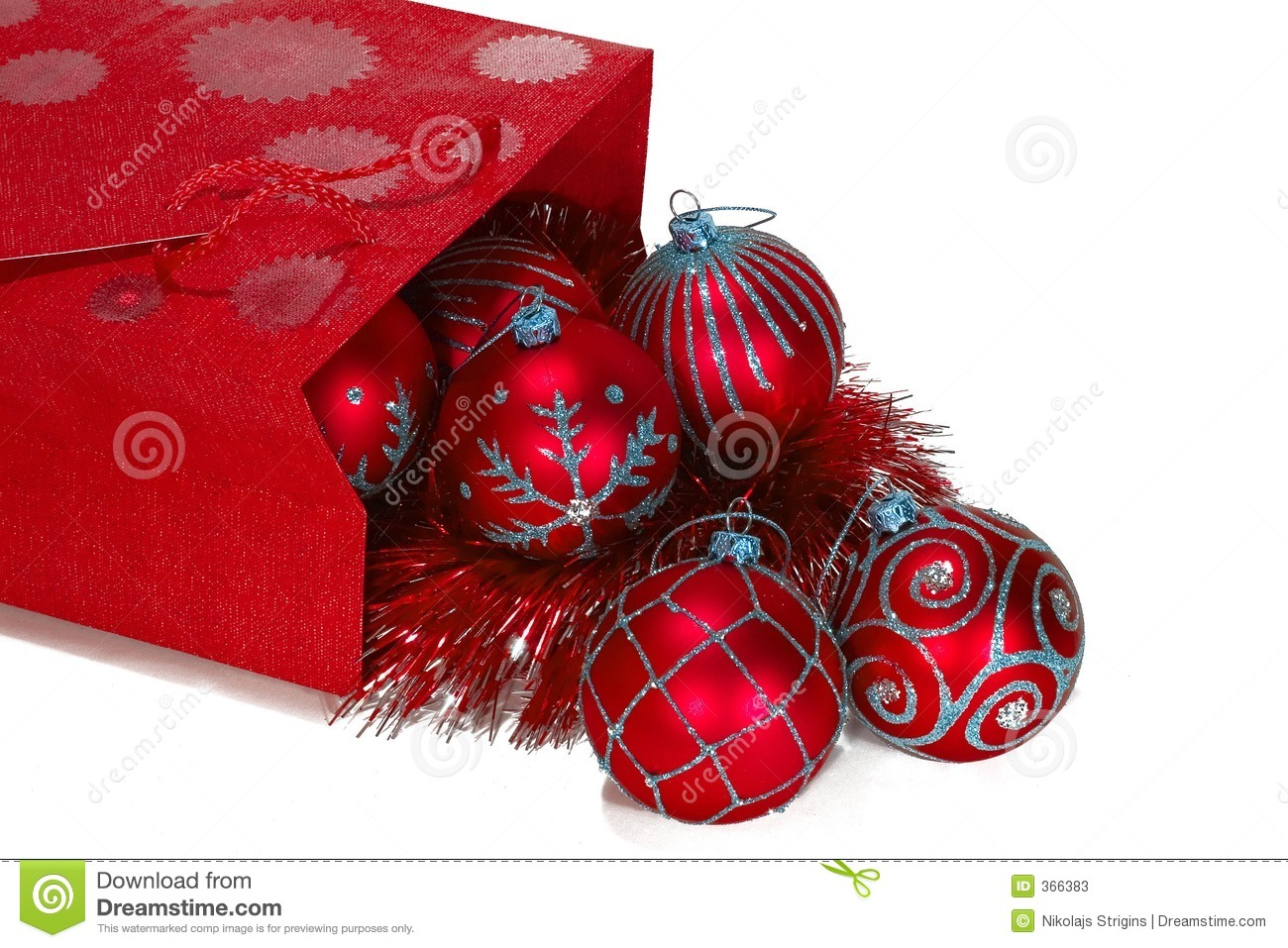 Sack Of Toys For Christmas : Red gift bag full of christmas toys stock photos image