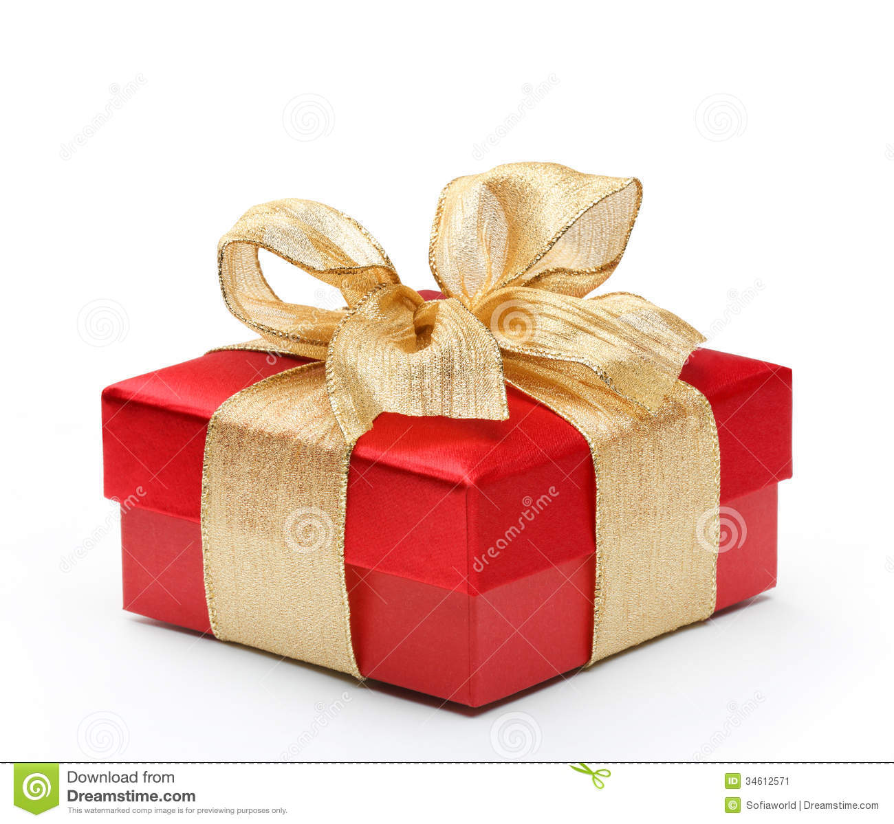 Red gift box with gold ribbon bow stock image image 34841527 red gift box with gold ribbon bow stock image negle