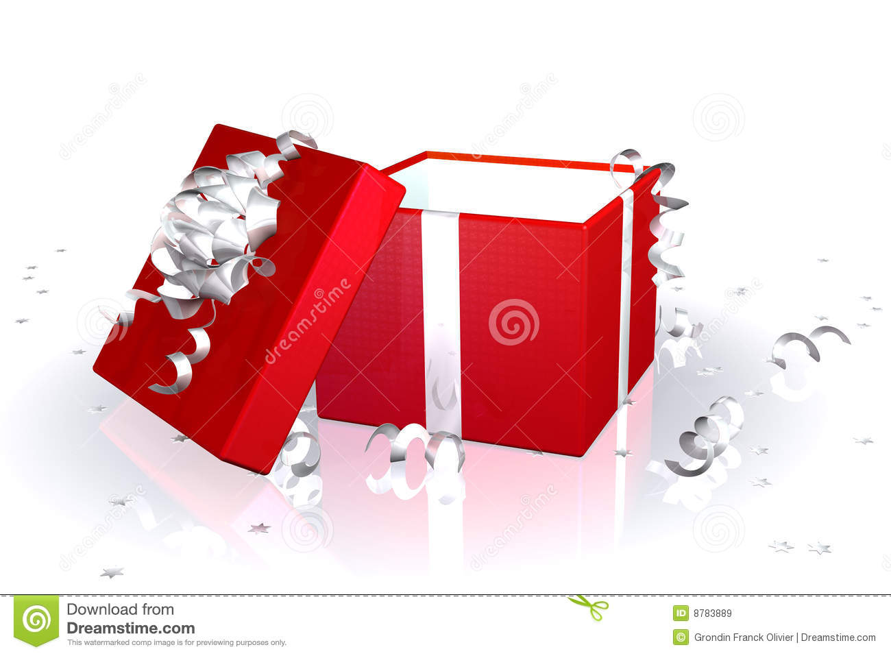 Red Gift Box Open Royalty Free Stock Images - Image: 8783889