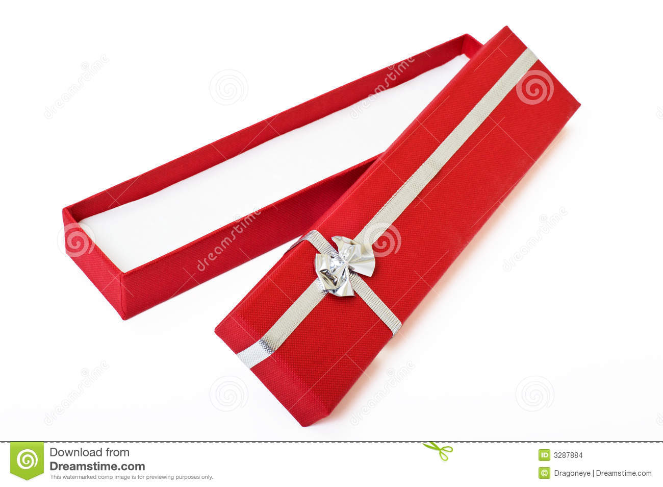 Red Gift Box Open Cutout Stock Images - Image: 3287884