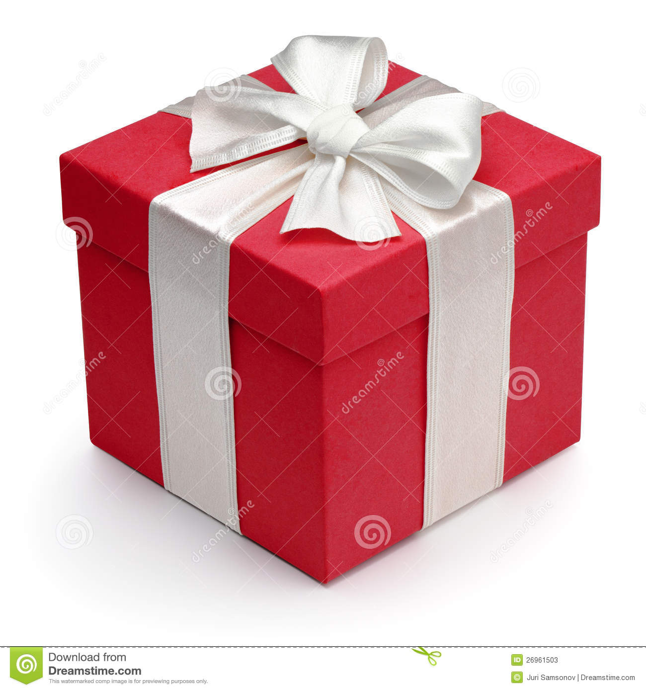 Image result for red box white bow