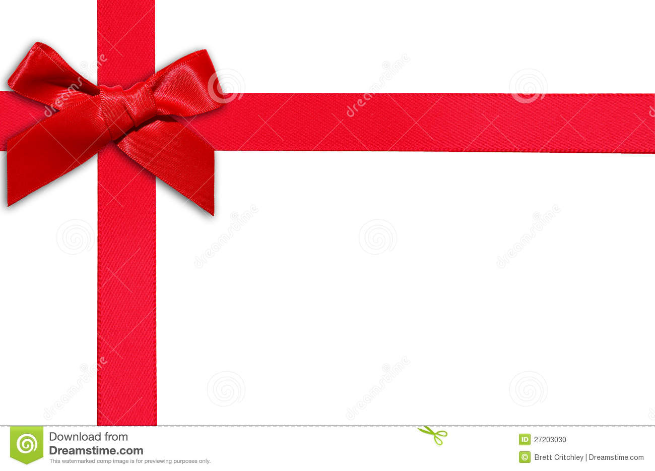 red gift ribbon and bow stock photo 27203030 megapixl