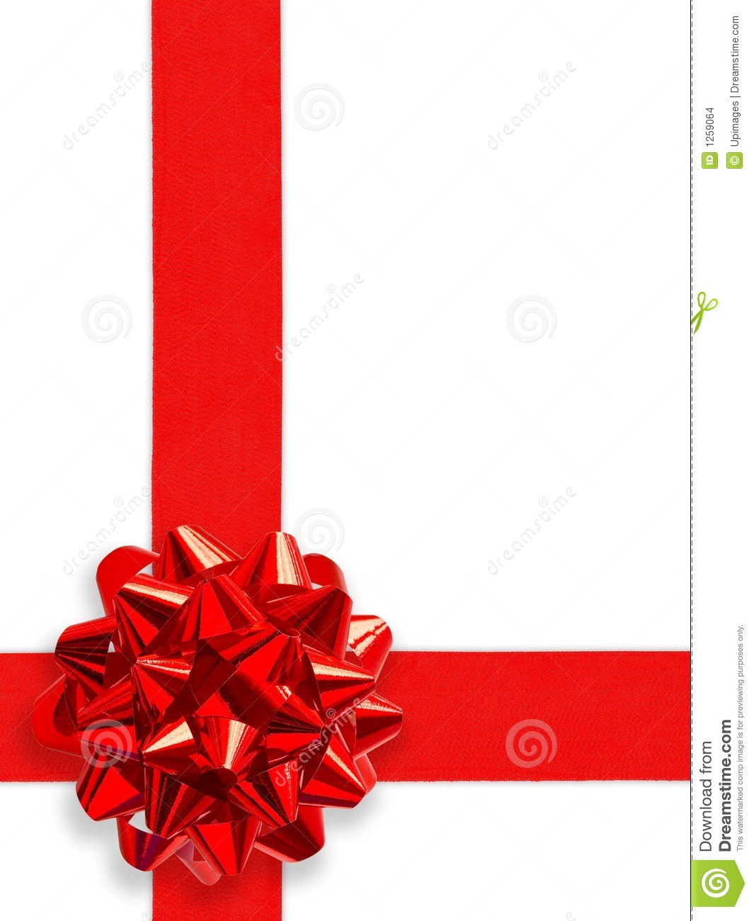 Red gift bows border with clipping path for easy background removing - Background Clipping Gift Path Red