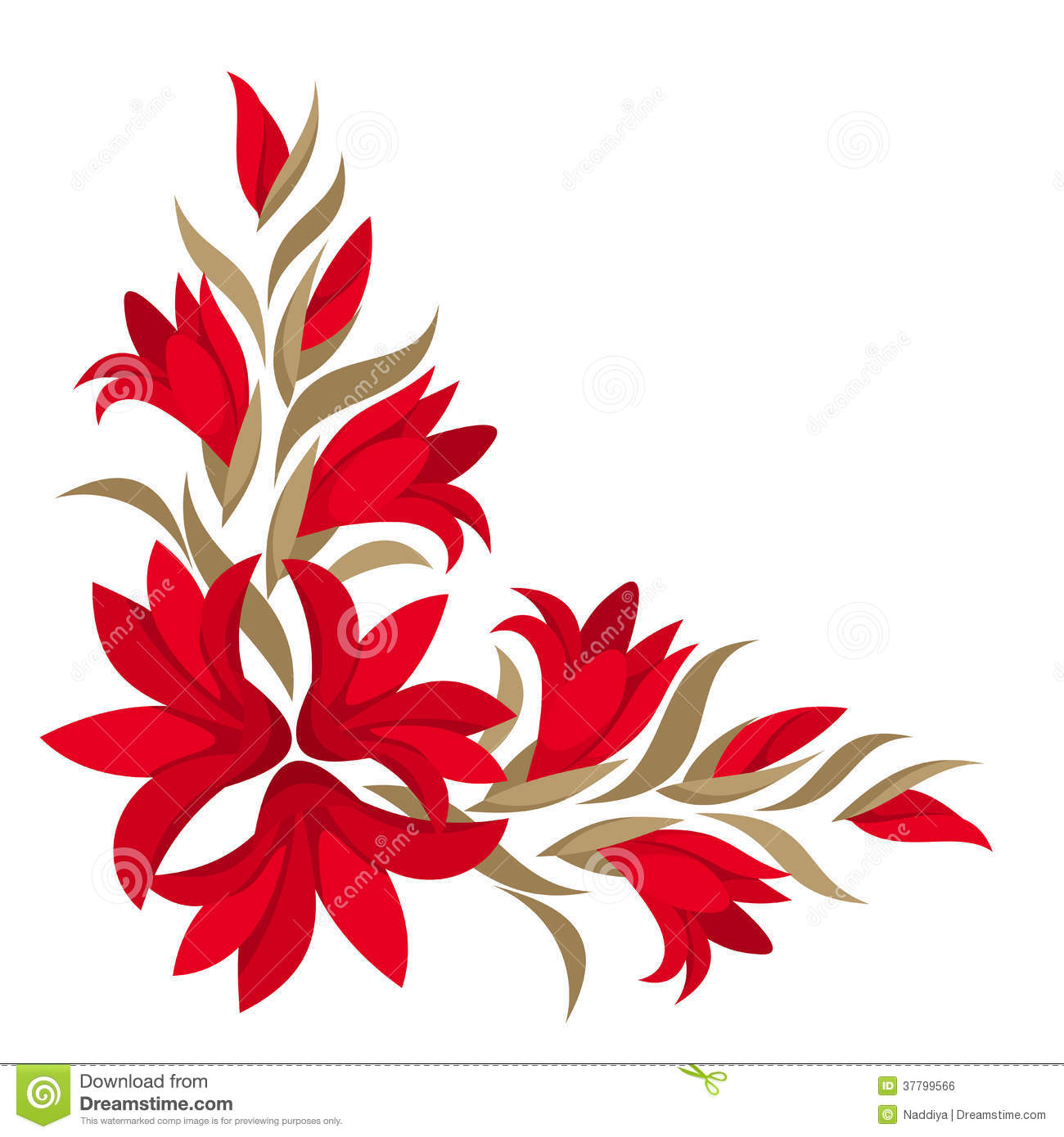 Red gladiolus flowers. stock vector. Illustration of ... - photo#34
