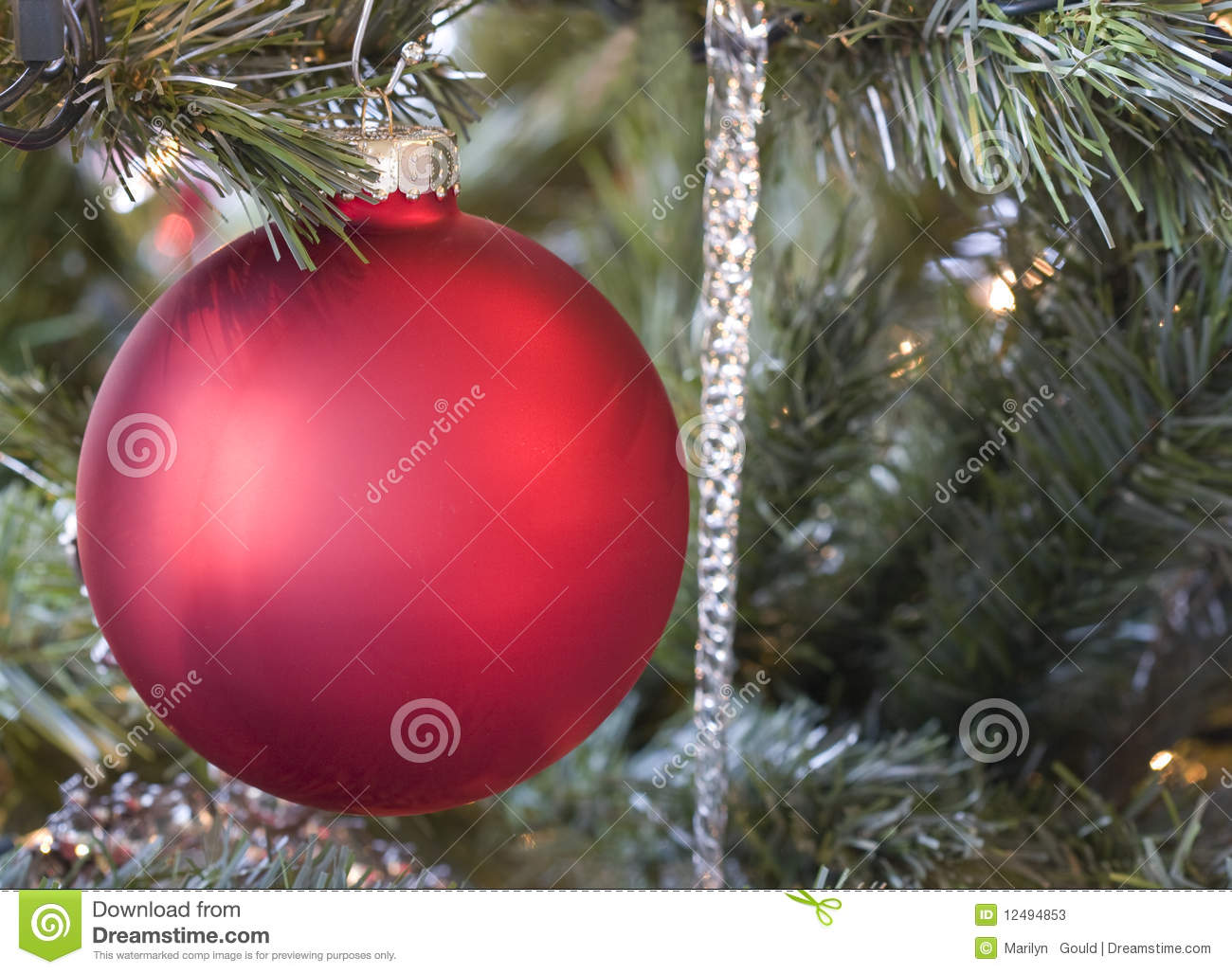 Red glass ornament horizontal stock photos image