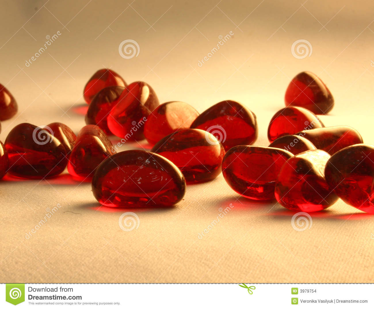 Red Glass Stone : Red glass stones stock images image