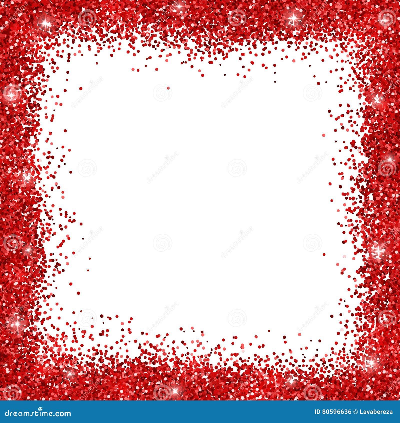 red glitter border frame stock vector illustration of merry 80596636