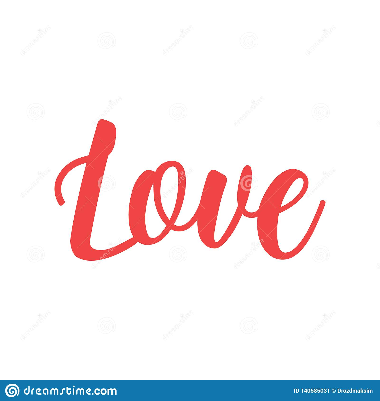 Download Red Glitter Love Calligraphy Vector Graphic Stock Vector ...