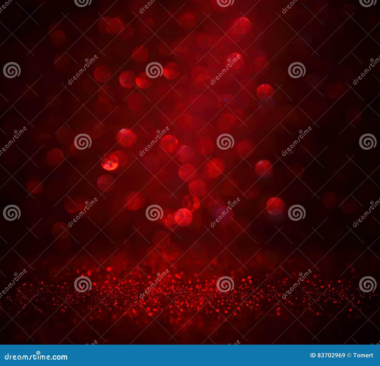 Red Glitter Vintage Lights Background Stock Photo