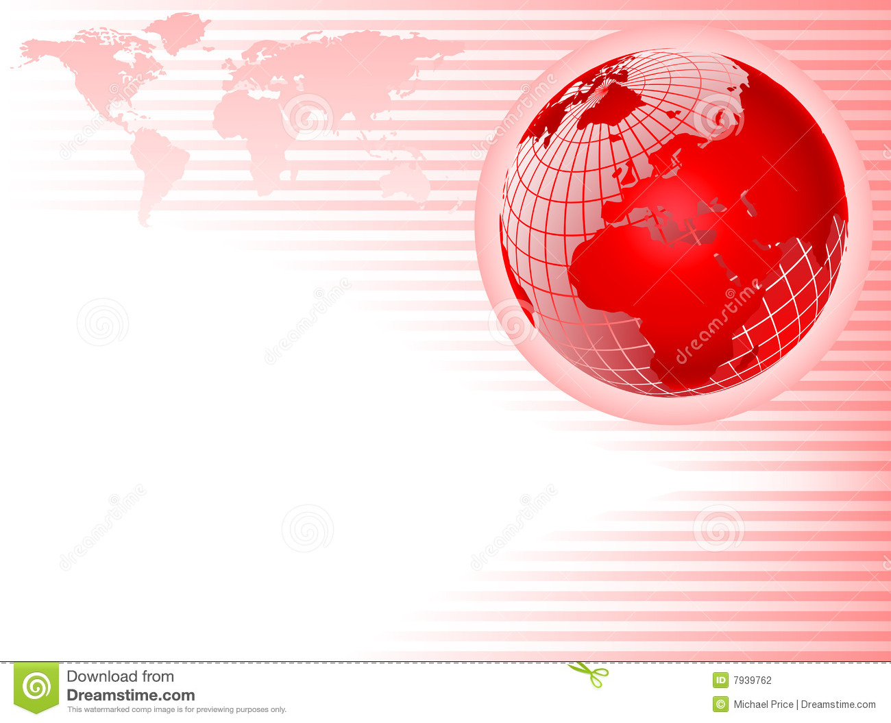 red globe abstract background stock photography