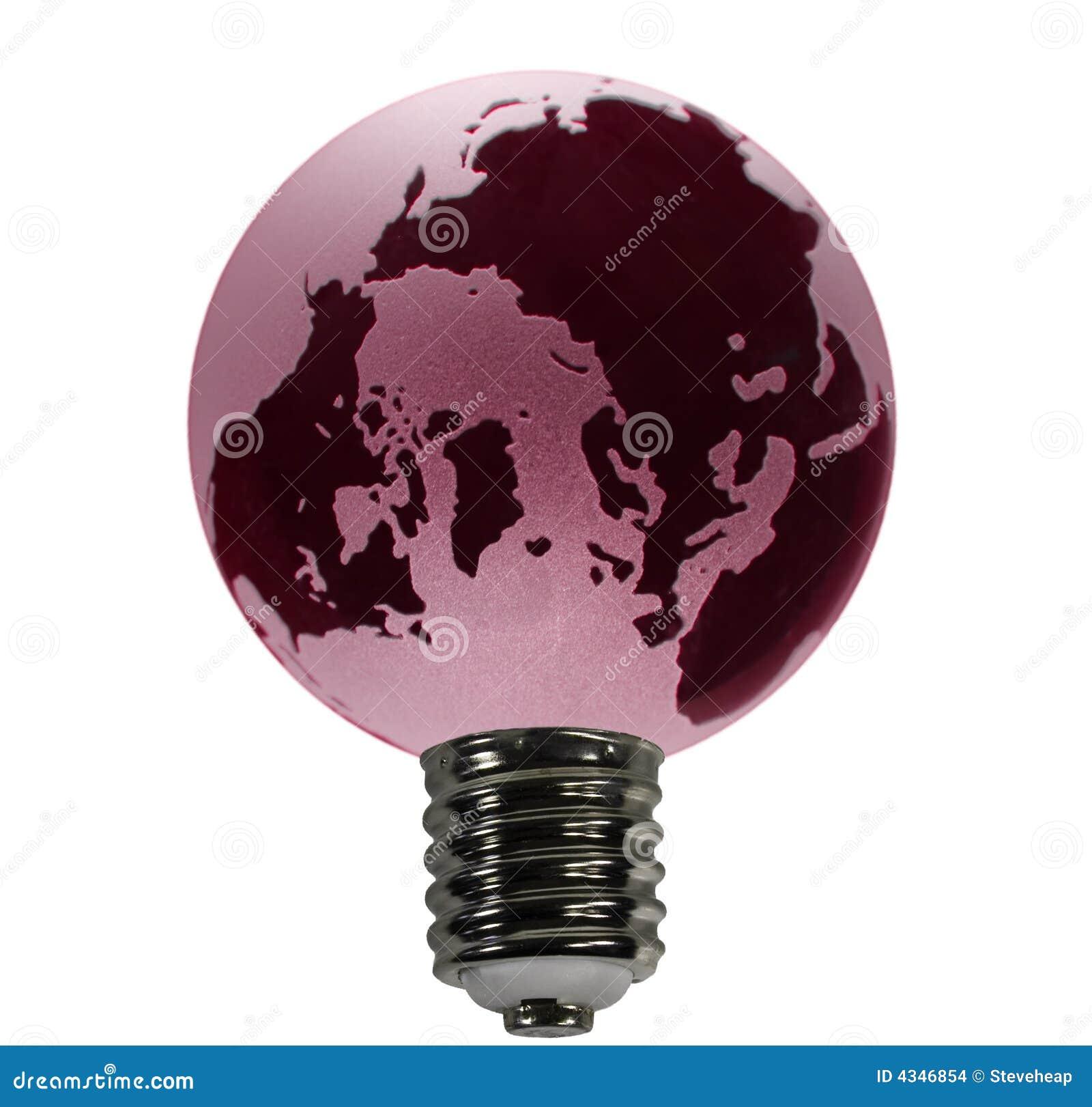 Red Globe as Bulb