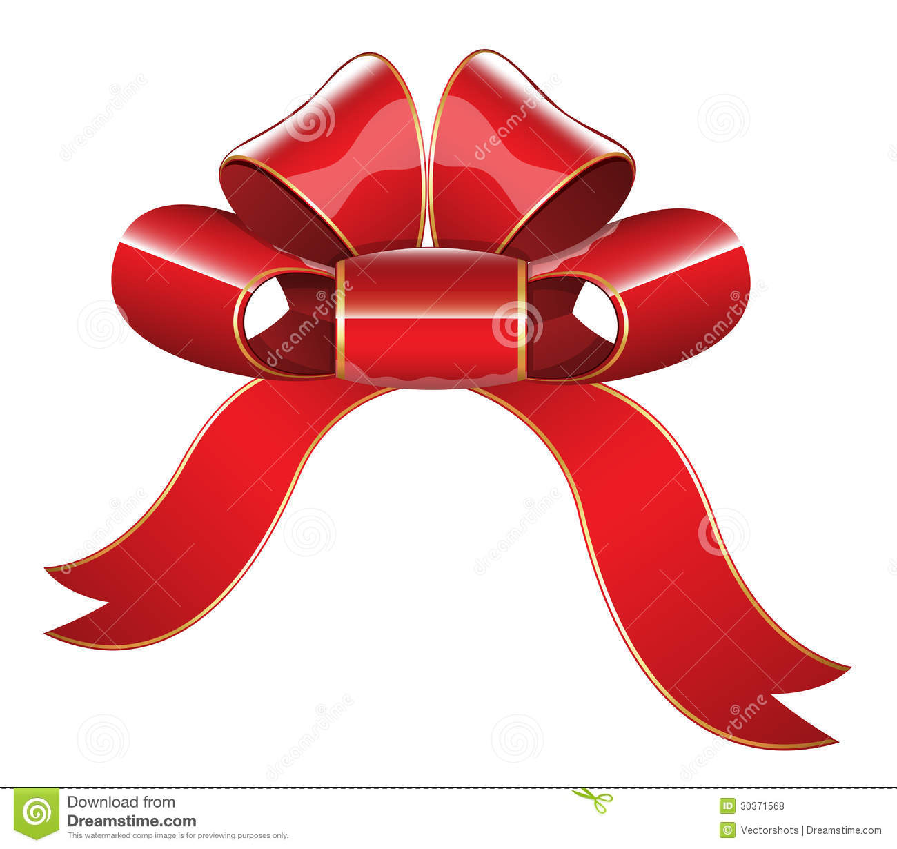 red glossy ribbon bow vector illustration - How To Make Christmas Bows Out Of Ribbon