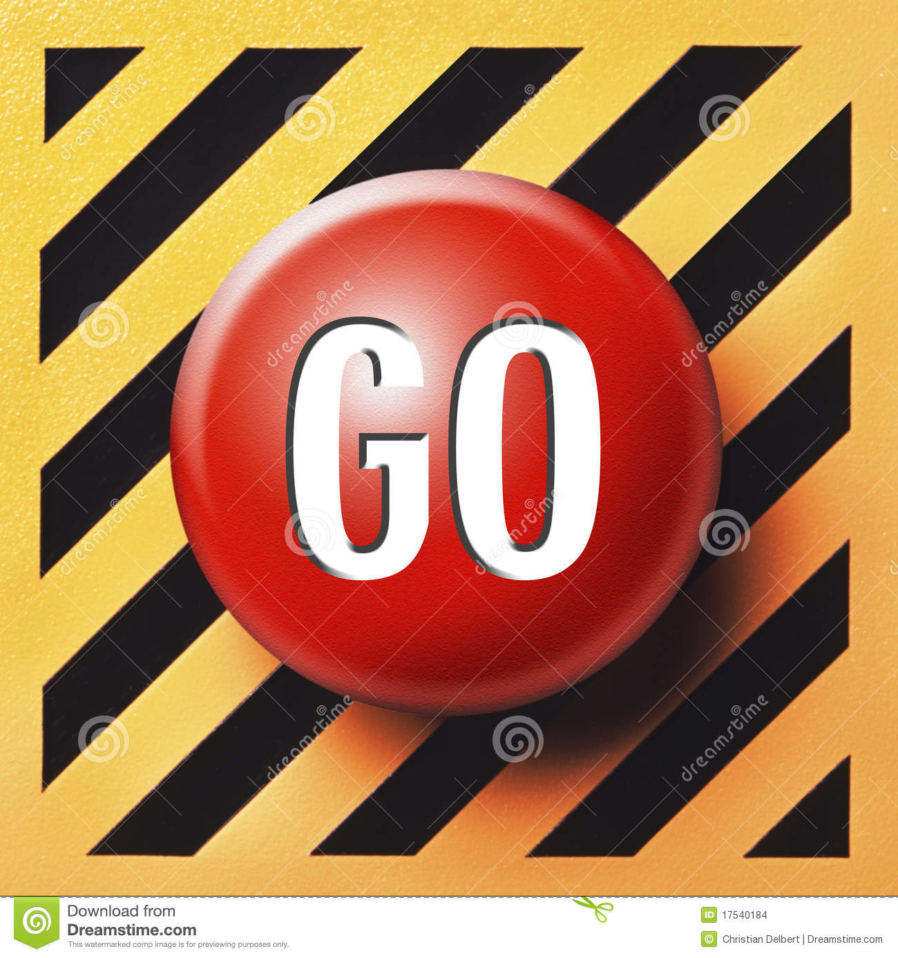 Red Go Button Stock Images Image 17540184