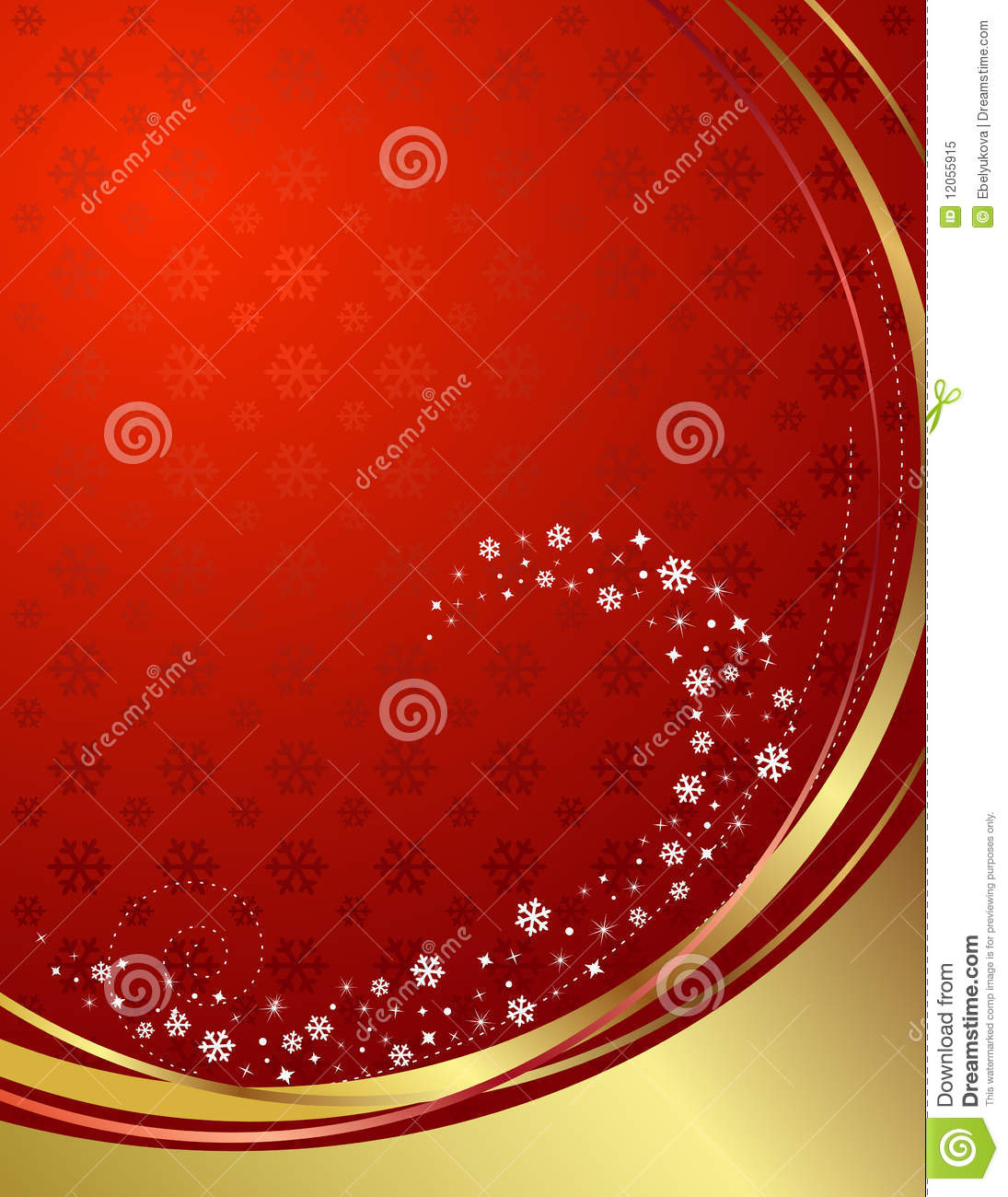 Red And Gold Background With Snowflakes. Royalty Free ...