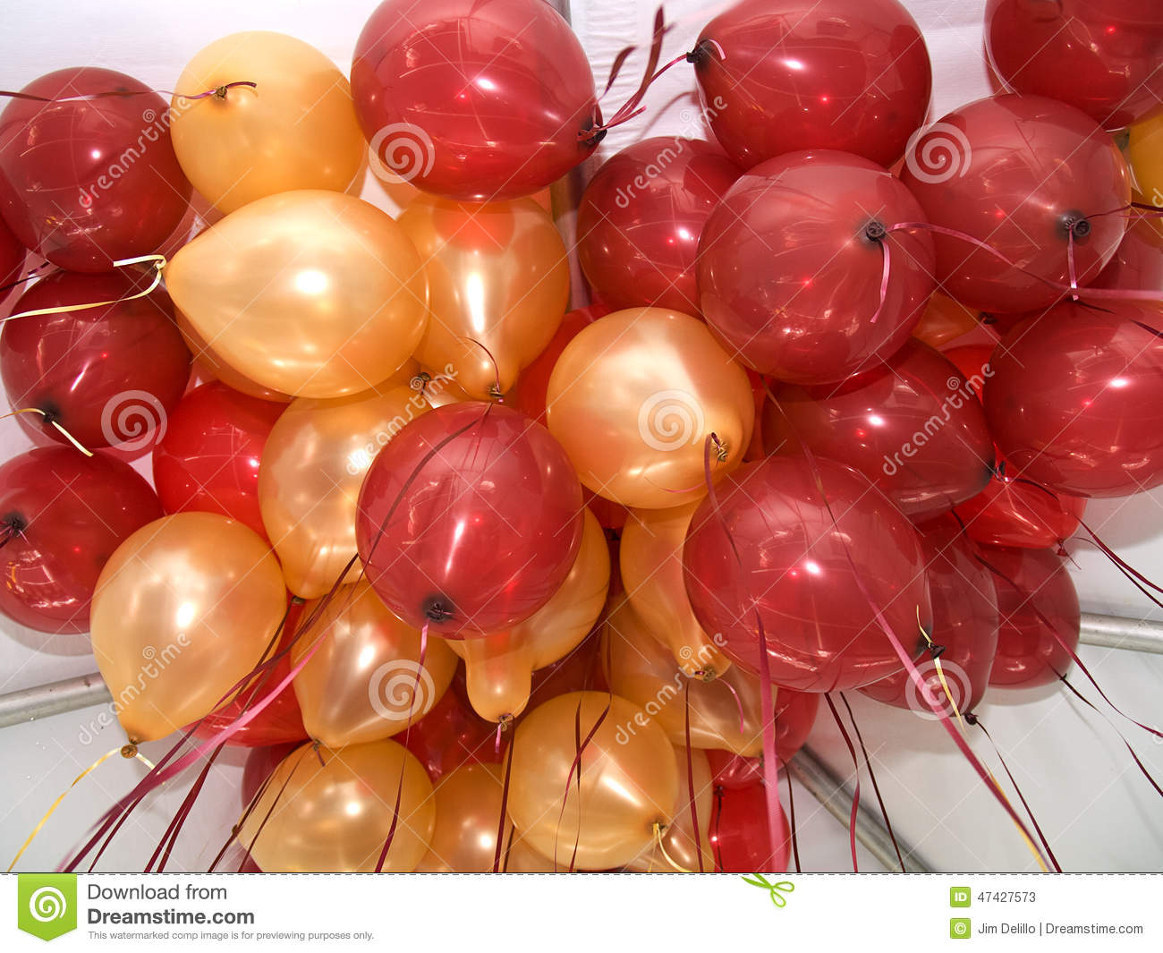 Red and gold balloons stock photo image 47427573