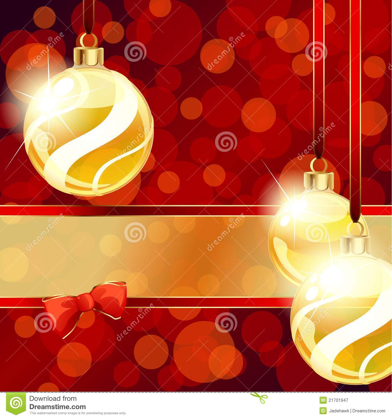 Red and gold christmas ornaments - Banner Christmas Gold Ornaments Red