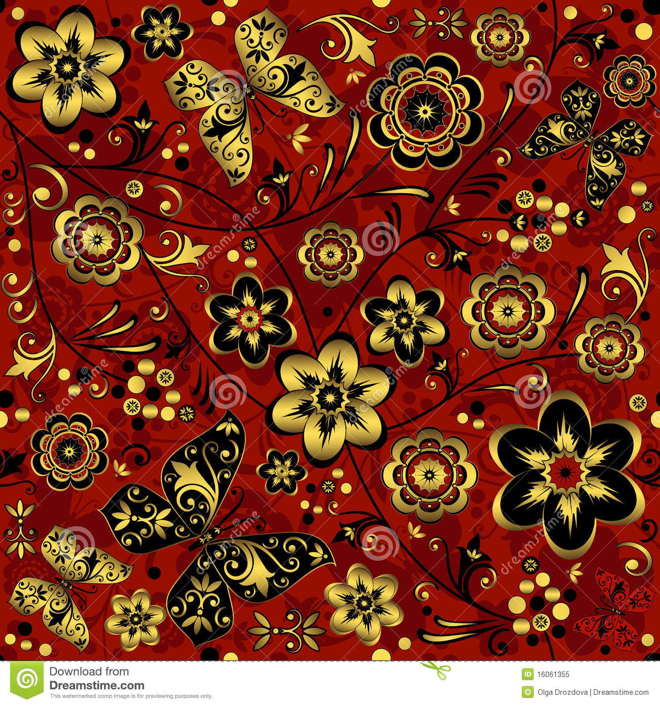 Top Wallpaper Halloween Gold - red-gold-black-seamless-vintage-pattern-16061355  Snapshot_956387.jpg