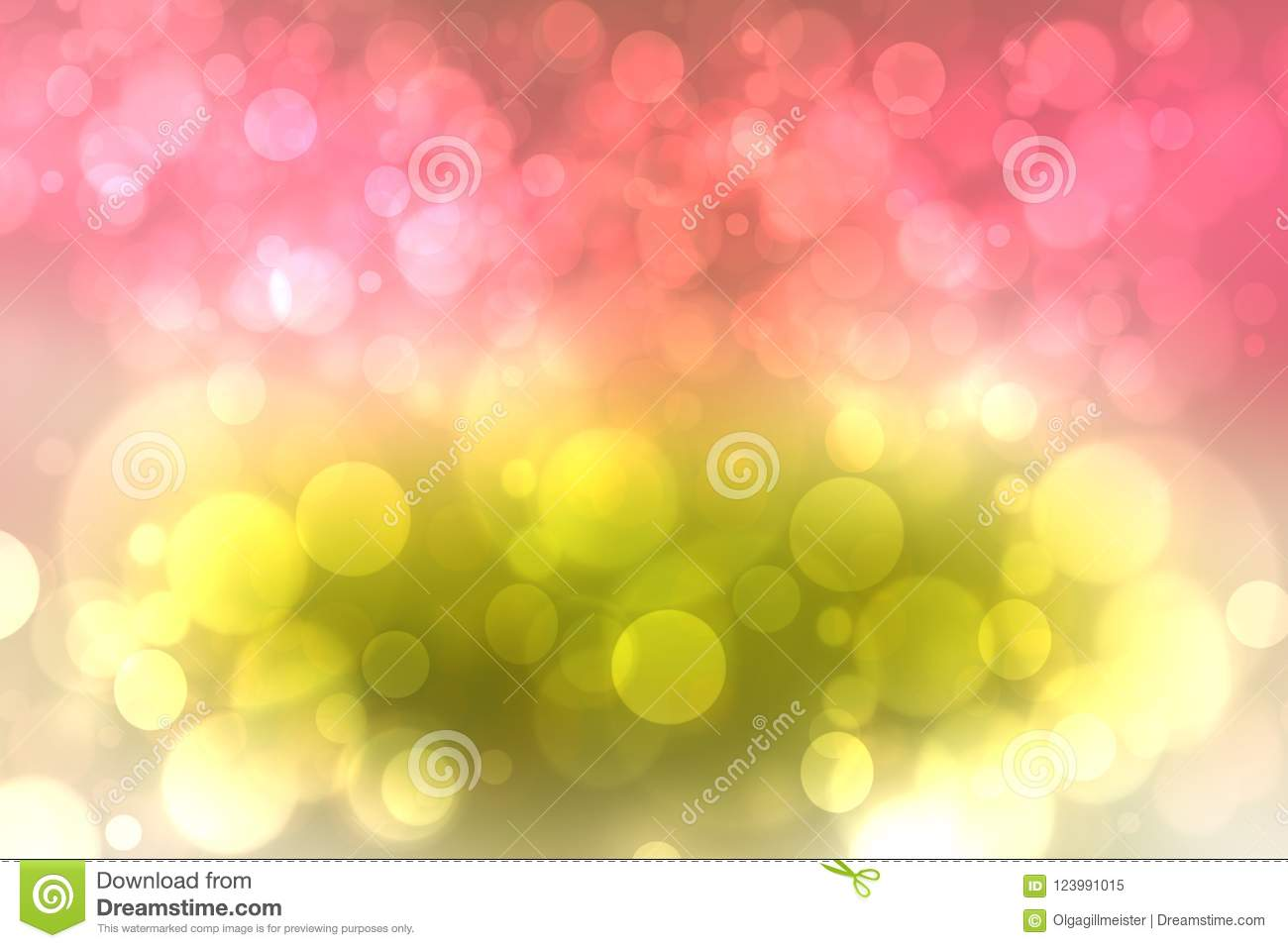 Red Gold Bright Abstract Bokeh  Template For Your Product Display