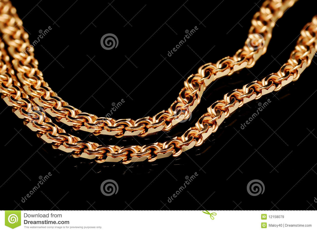 Red gold chain