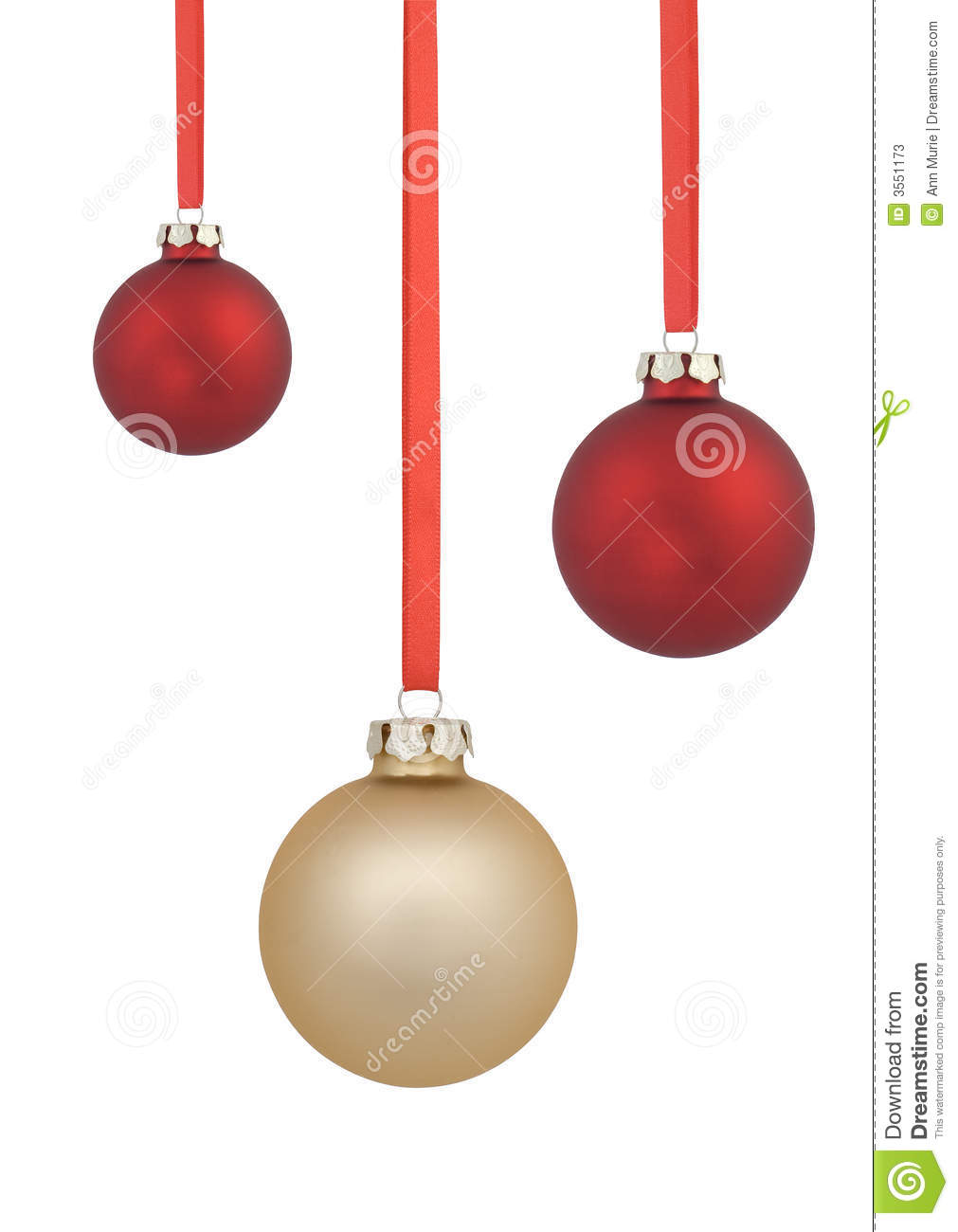 Red and gold christmas ornaments - Red And Gold Christmas Balls