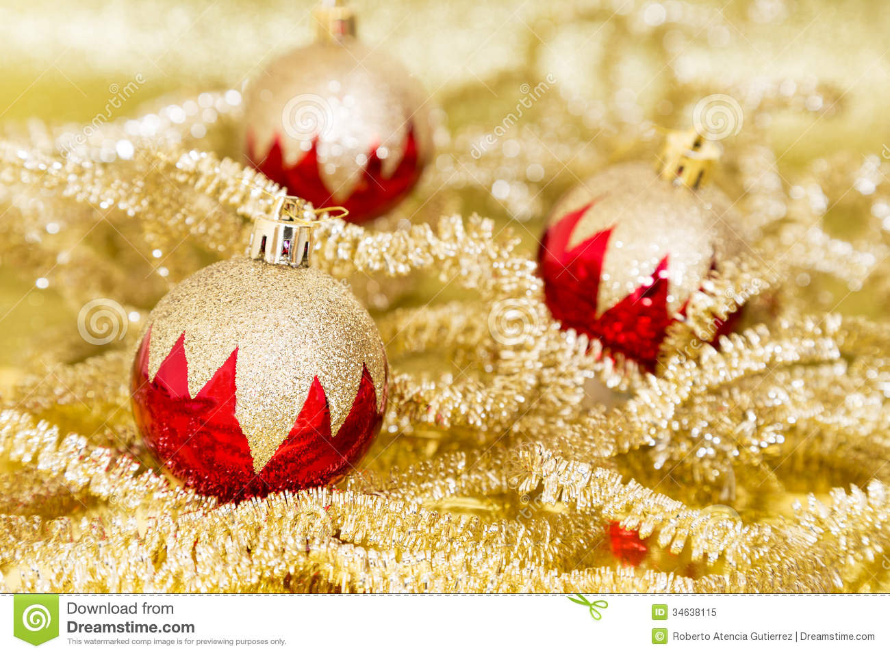 91750b8acef5 Red and gold Christmas stock image. Image of baubles - 34638115