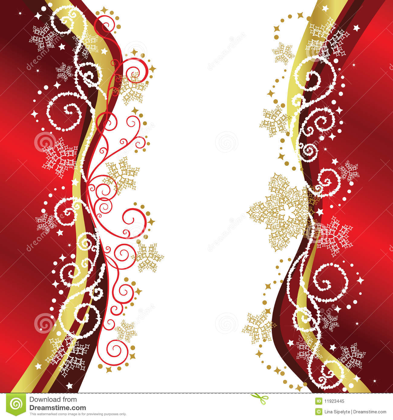 red gold christmas border designs royalty free stock