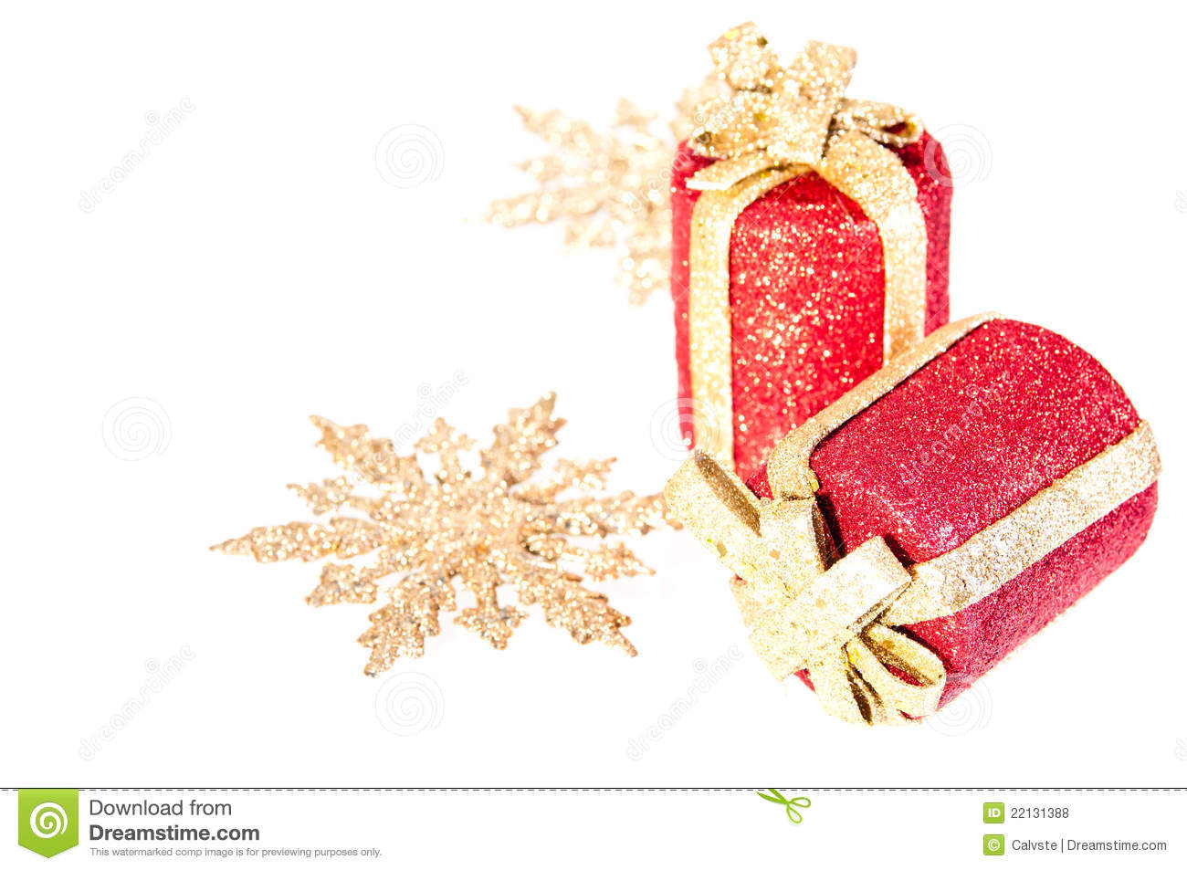 Christmas Ornaments Red And Gold : Red and gold christmas ornaments royalty free stock photos