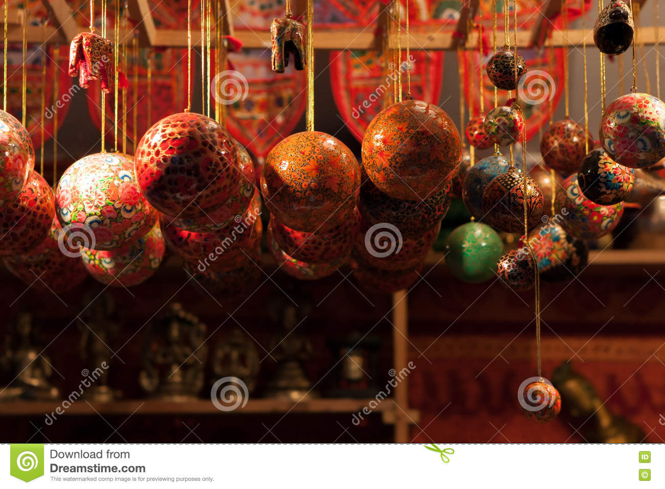 Red glass christmas ornaments - Gold Glass Christmas Ornaments Red And Gold Colored Glass Christmas Ornaments Hanging In A Kiosk