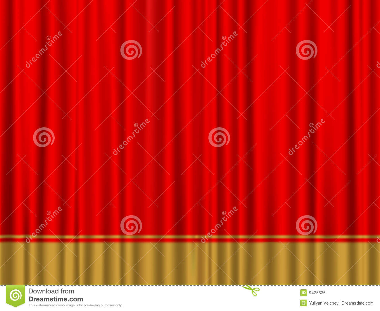 Red Gold Curtain Royalty Free Stock Image - Image: 9425636