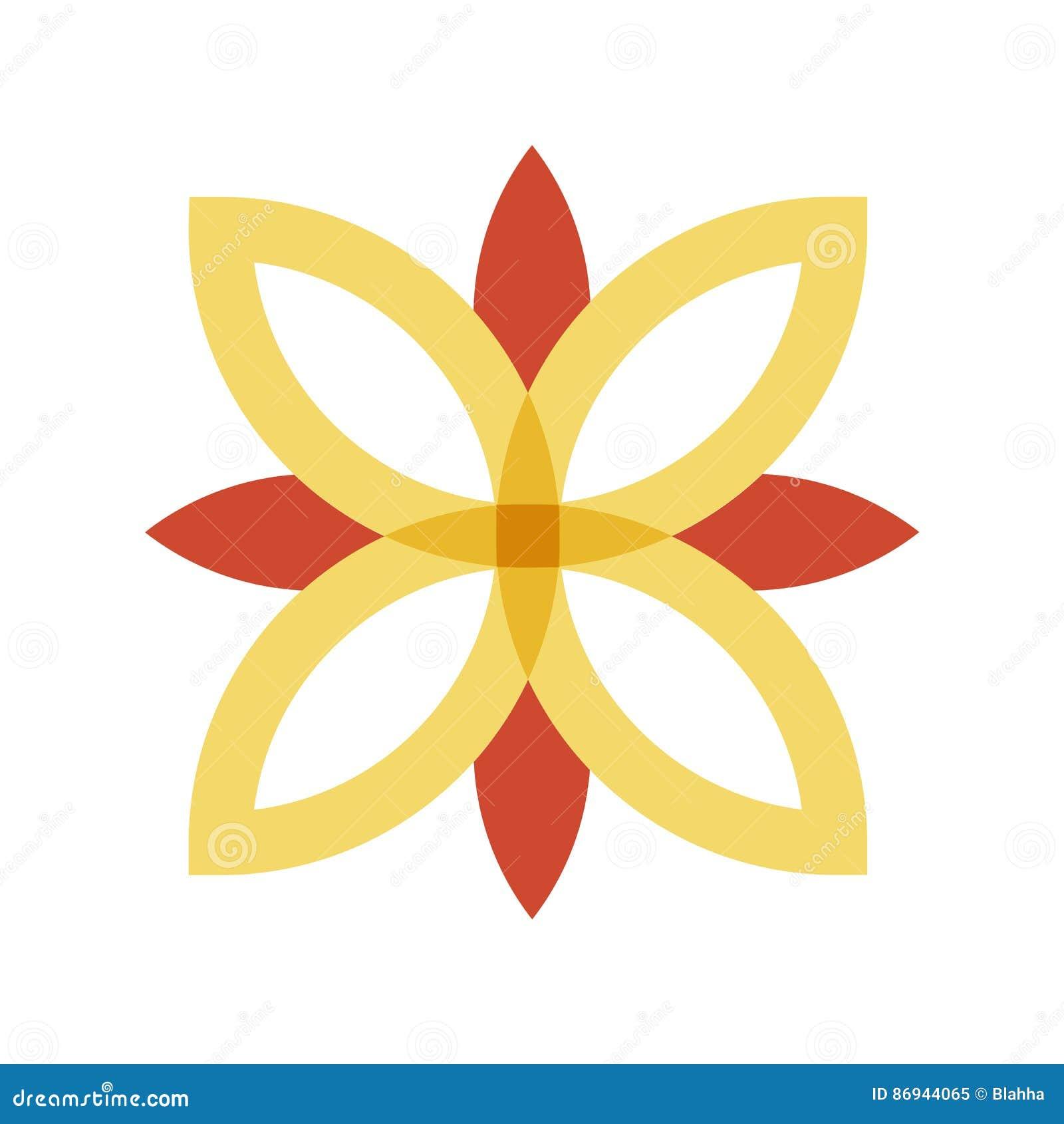 Red And Gold Flower Logo Stock Vector Illustration Of Logo 86944065