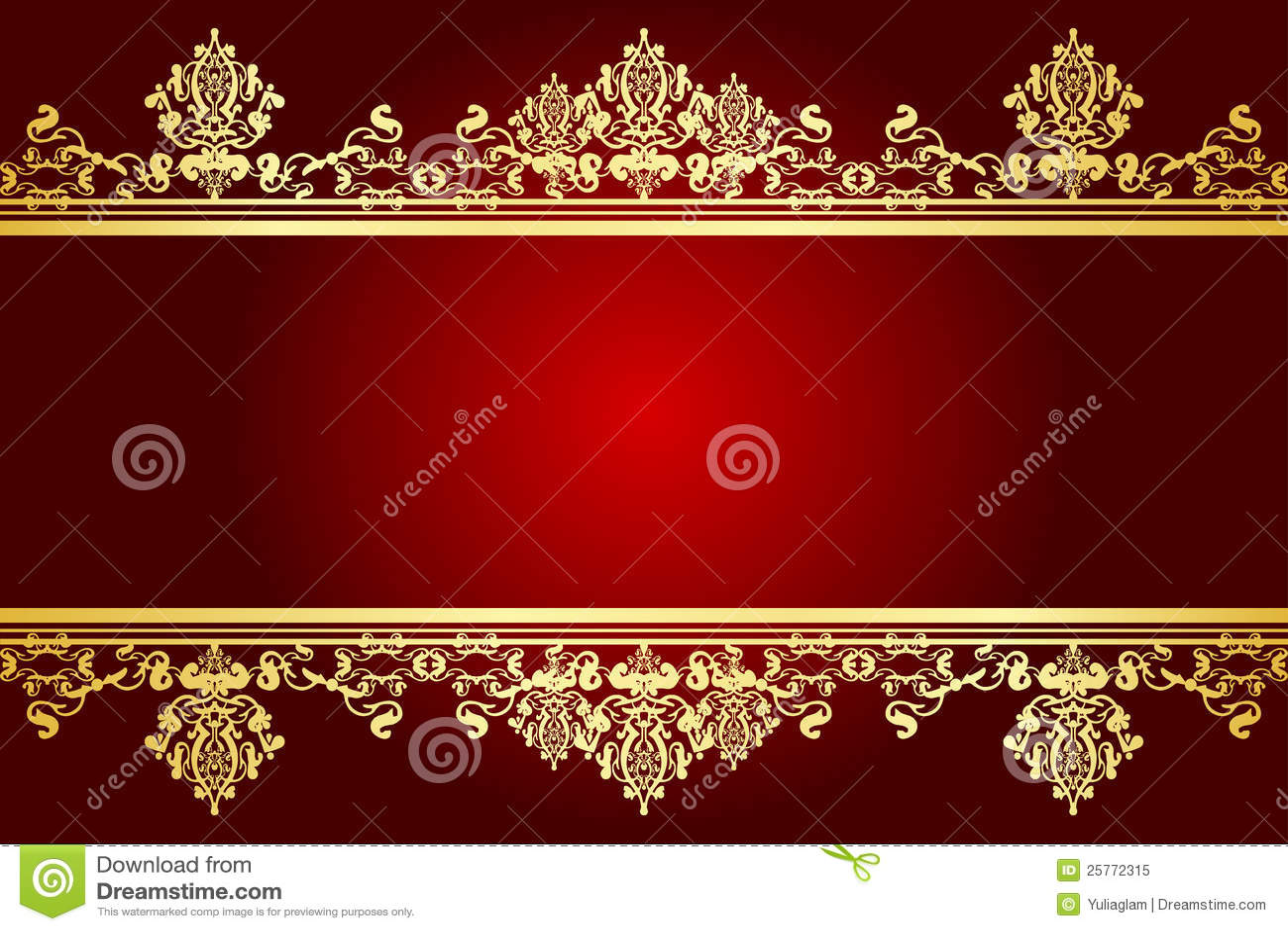 red and gold frame stock illustration illustration of