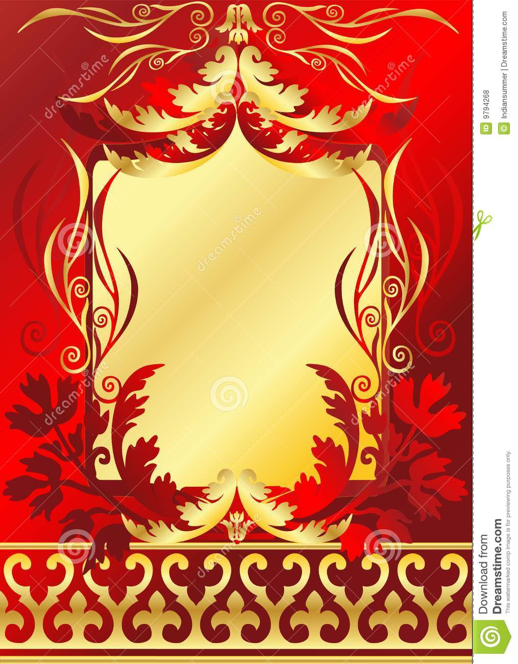 Red And Gold Frame Royalty Free Stock Photos - Image: 9794268