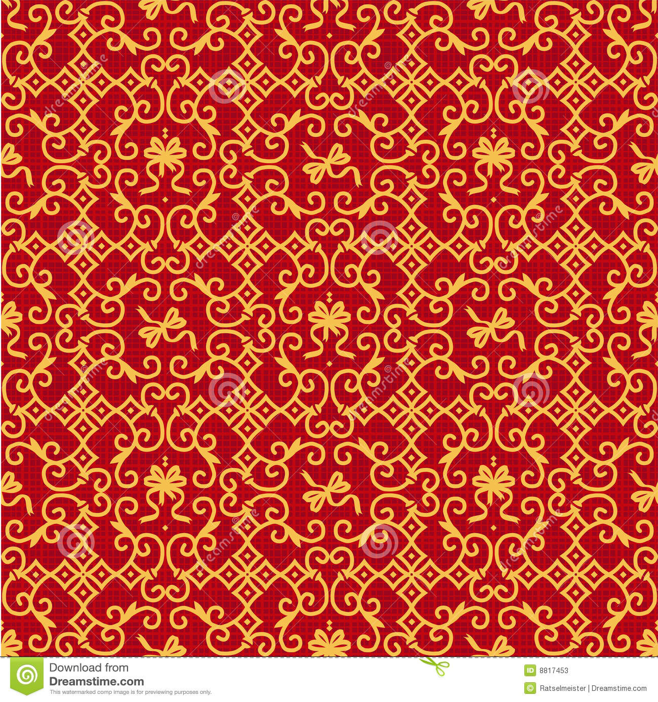 Red and gold ornate background stock vector image 8817453 for Red with gold