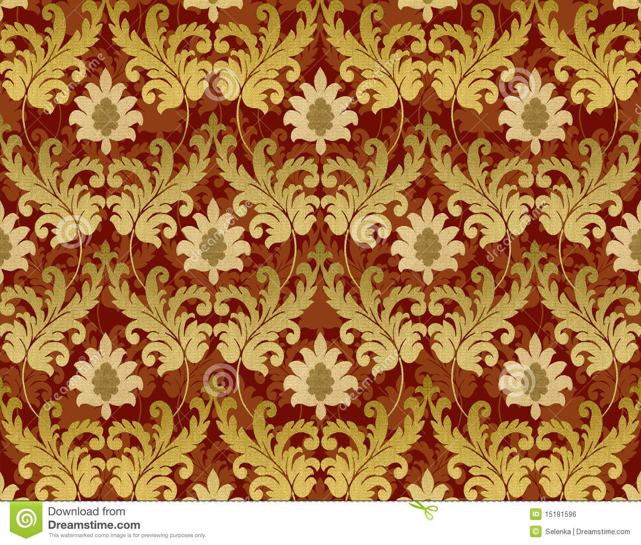 red and gold renaissance background royalty free stock