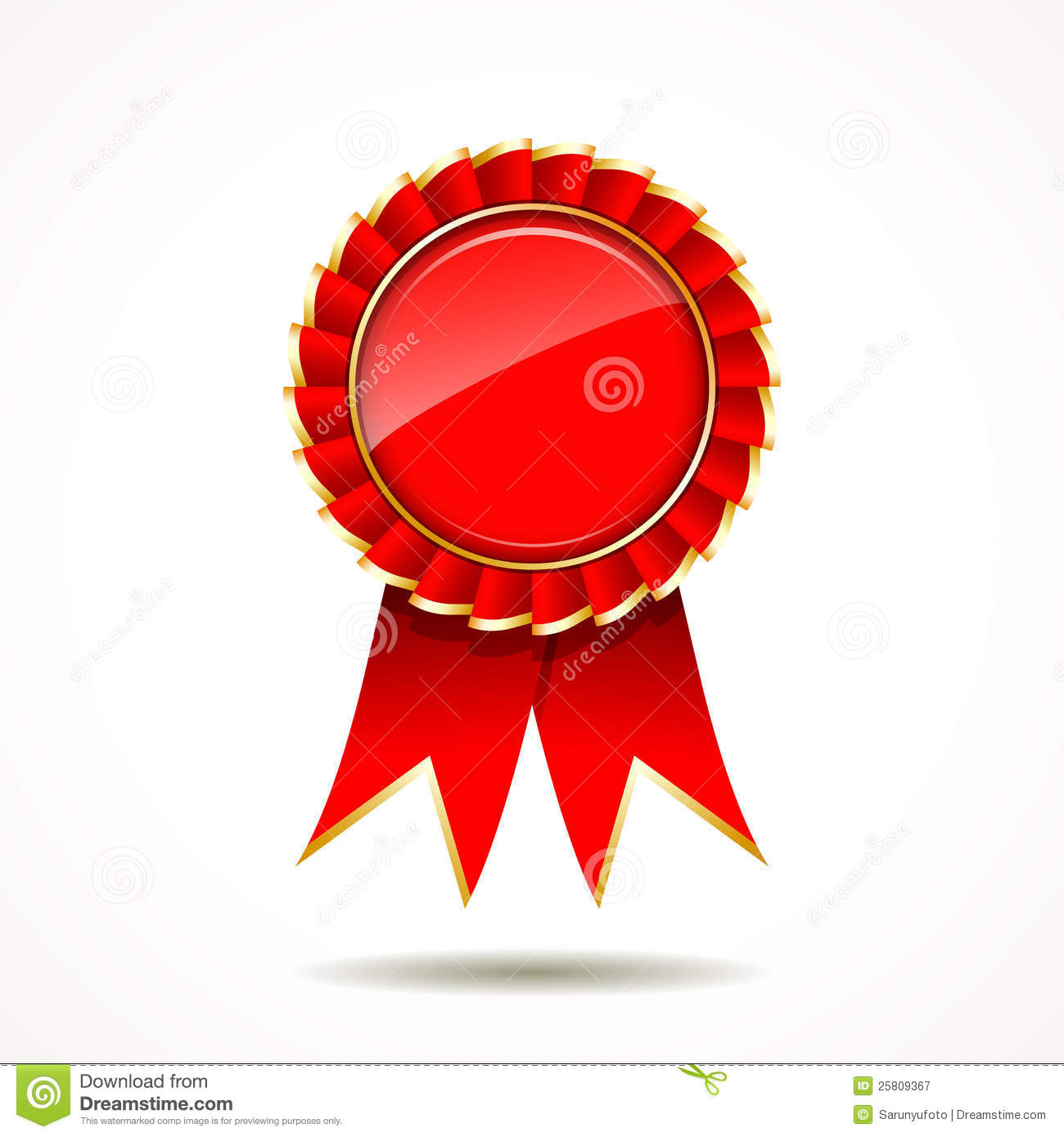 red and gold ribbon award stock illustration illustration of choice