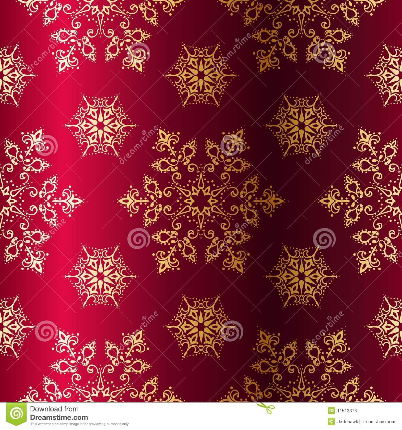Red-and-Gold Seamless Christmas Background Royalty Free Stock ...