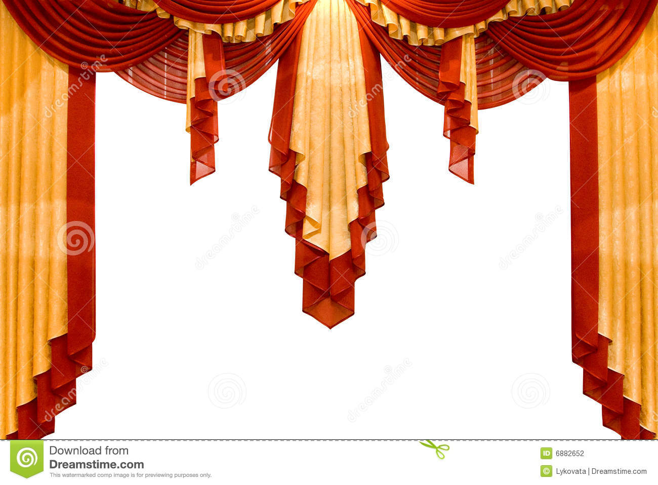 Red With Gold Stage Curtain Stock Photography - Image: 6882652