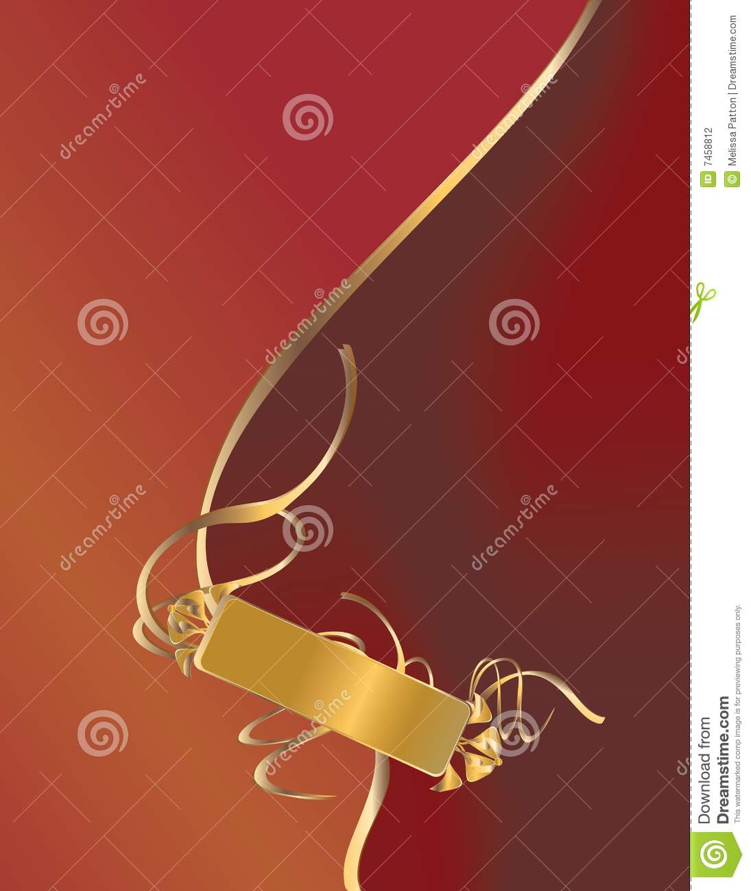 I tag background image - Background Gold Red Ribbon Tag
