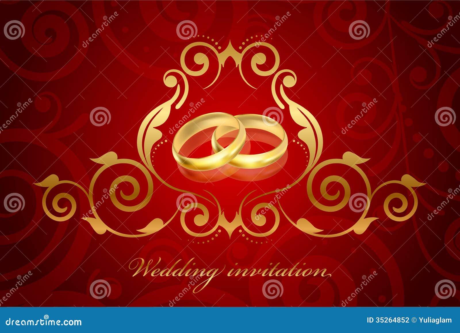 Vintage Gold Wedding Invitations - Weddings Gallery