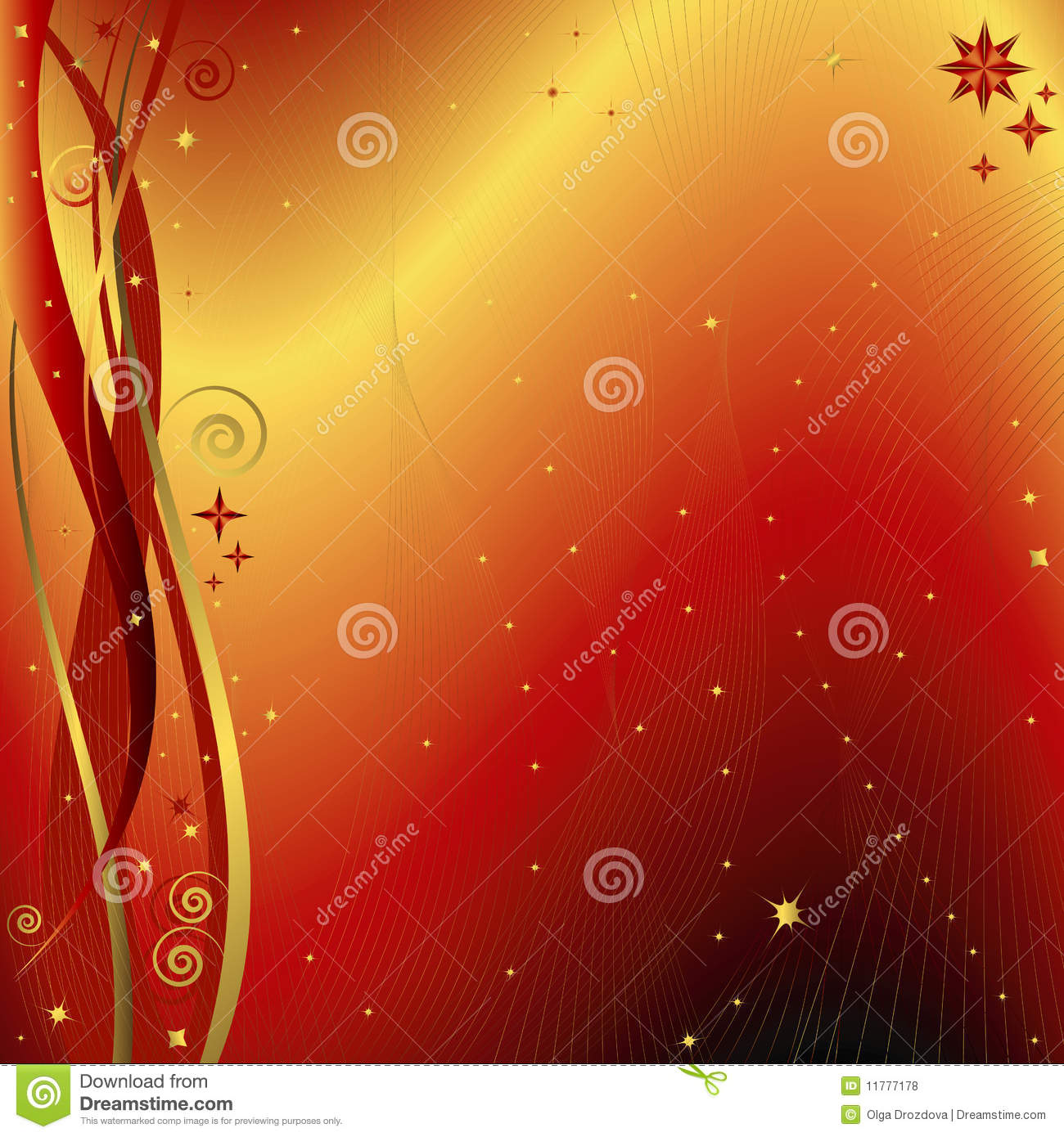Red gift bows border with clipping path for easy background removing - Red And Golden Christmas Background Vector Royalty Free Stock Photos