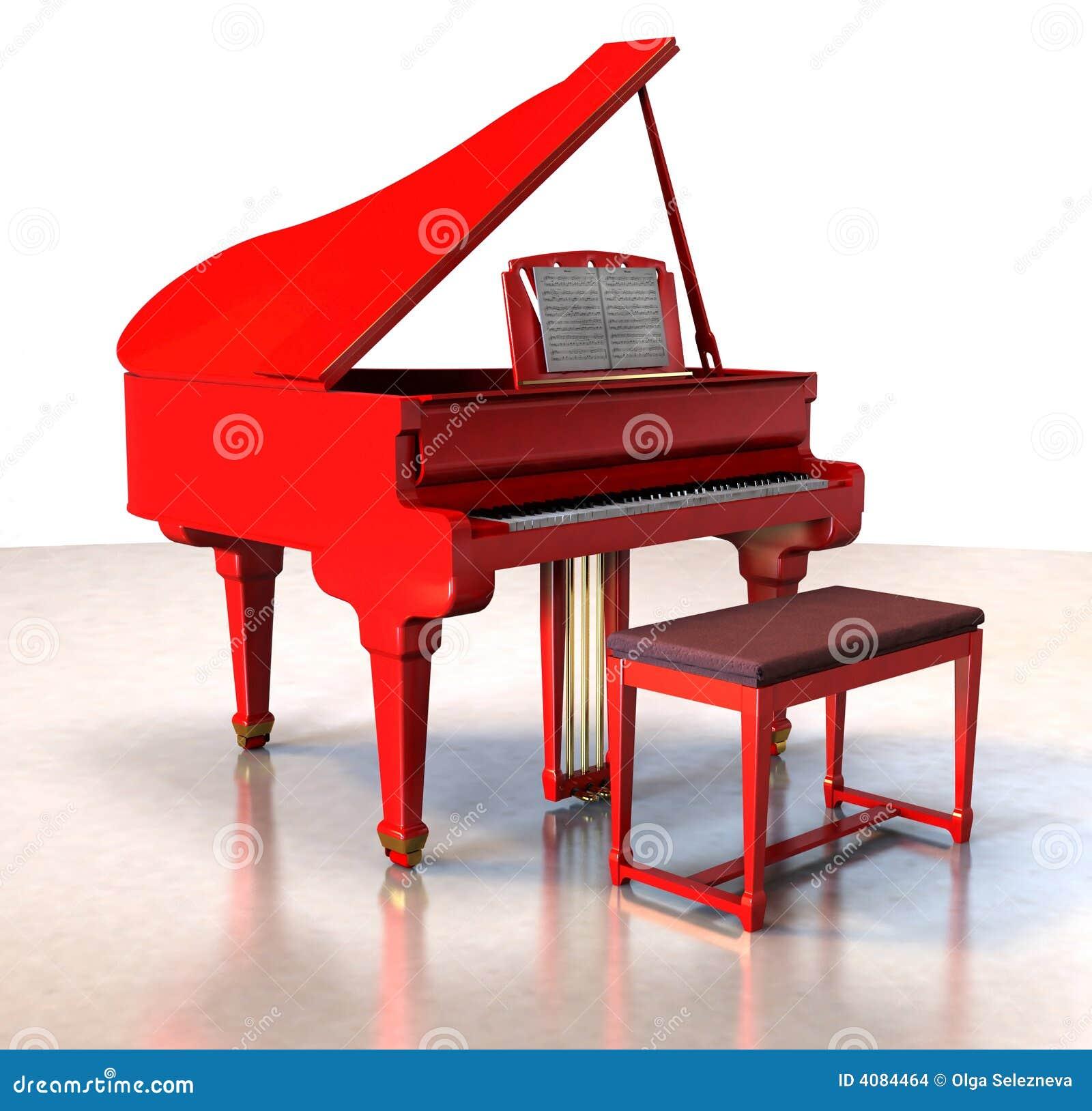 Red Grand Piano Stock Illustration Illustration Of Equipment 4084464