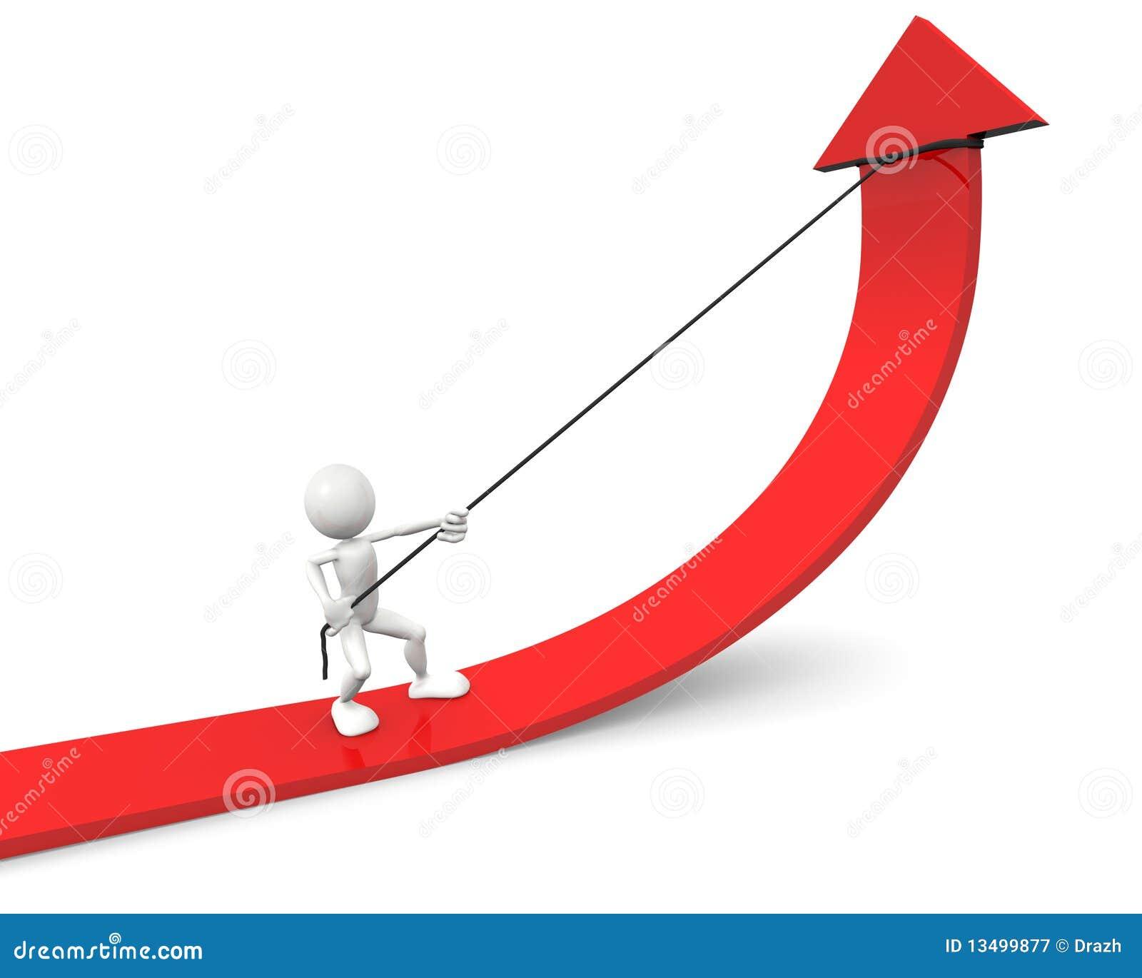 Progress Graph Represents Improvement Trend And Investment Stock ...