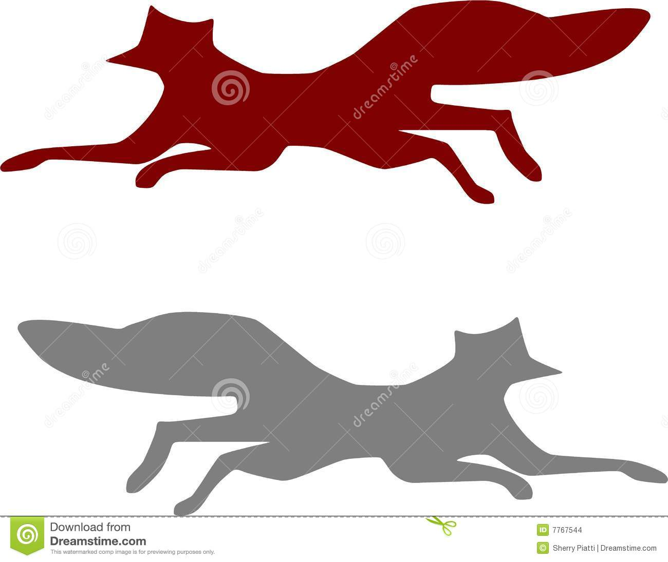 This is an image of Massif Running Fox Drawing