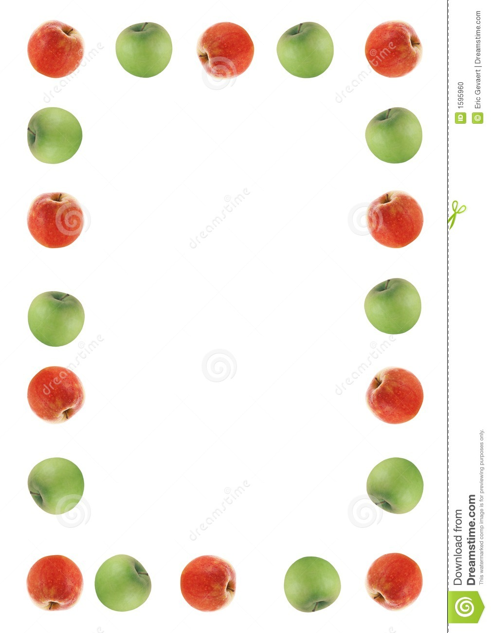 Red And Green Apple Border Stock Photo - Image: 1595960