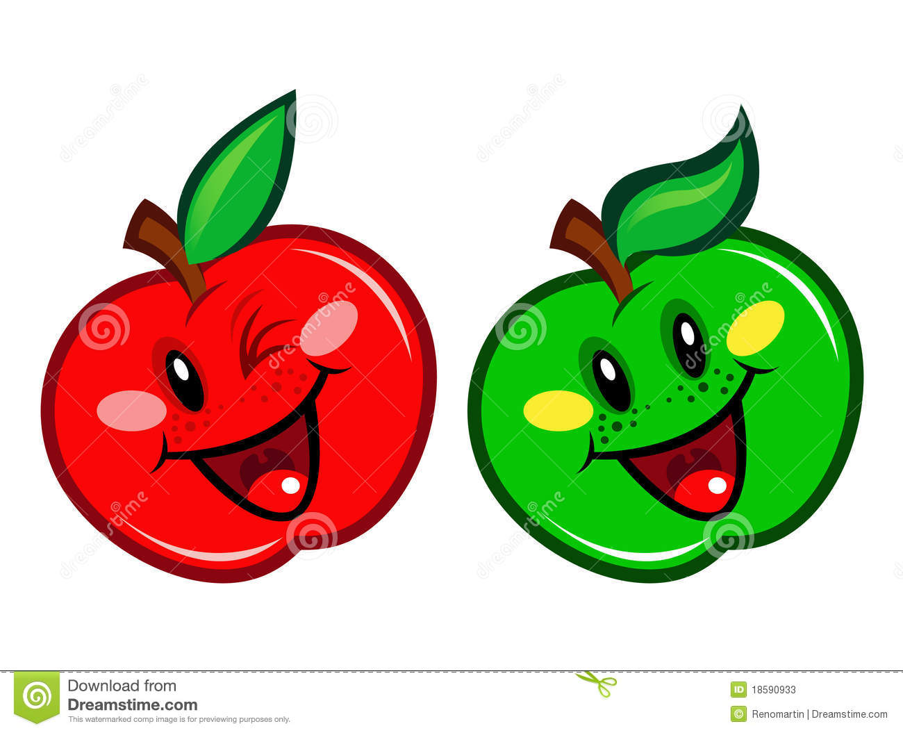Stock Photos Red Green Apple Character Image18590933 on orange juice cartoon character