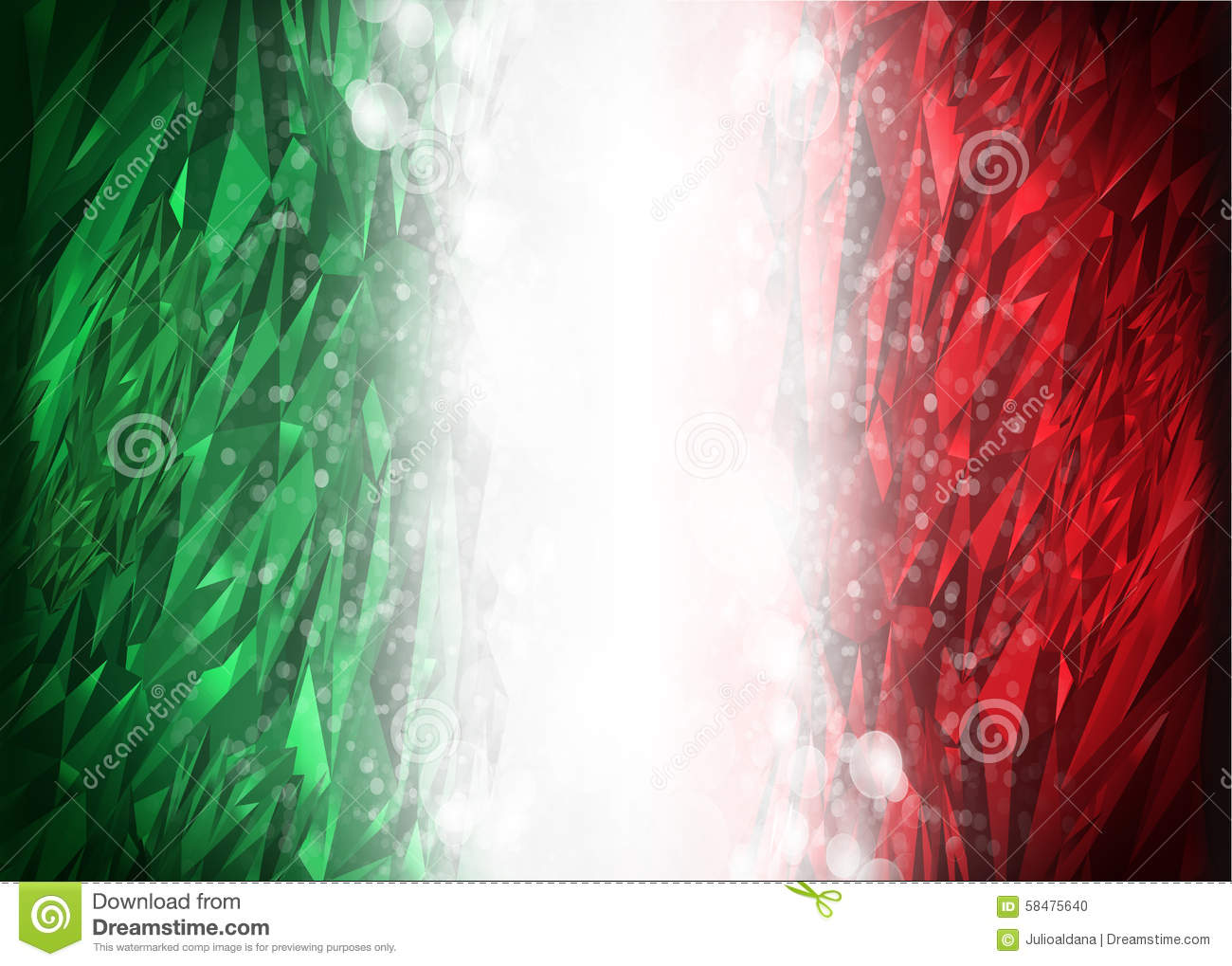 Red And Green Background Ready For Your Text Stock Photo